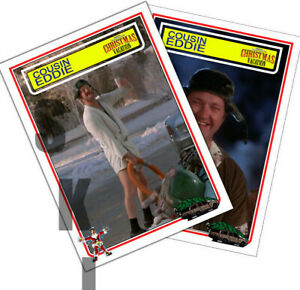 2 STCC Cousin Eddie Chrismas Vacation Randy Quaid Trading Cards 2 different
