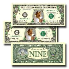 Basenji Pack of Three Novelty Nine Dollar Bills Dog (#1)