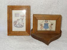 2 Small Framed Prints- Grandma's Are Little Girls & Rocking Chair Wall Decor-Usa