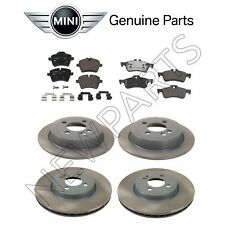 For Mini Cooper 2006-2008 Front & Rear Brake Pad Set w/ Disc Genuine KIT