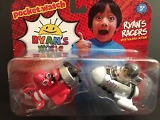 Ryan's World Pull Back Action Red Plane & White Silver Rocket New