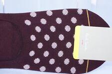 New Paul Smith Men's No Show Socks Polka-Dot Cotton Red Sale Gift