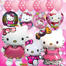 XL Hello Kitty Birthday Balloons Latex & Foil Theme Set balloon PARTY SUPPLY