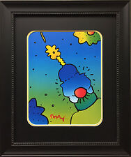 "Peter Max ""Neo"" Newly CUSTOM FRAMED Print Art POP psychedelic Neo-expressionism"
