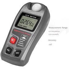 UK Light meter Handheld Digital Illuminometer Lumen Tester 9V Range 0.1-200,000