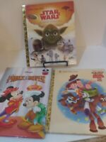 LITTLE GOLDEN BOOK /DISNEY BOOK, LOT OF 3 ,STAR WARS,TOY STORY 2,MICKEY MOUSE