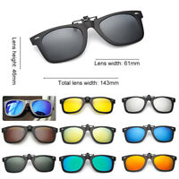 Men UV400 Polarized Driving Clip-on Night Vision Sunglasses Flip-up Lens Glasses