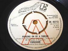 """FARQUAHR - HANGING ON BY A THREAD  7"""" VINYL DEMO"""