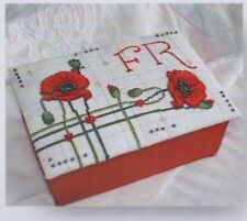 Poppy Box cover & Alphabet - beautiful cross stitch chart - Faby Reilly Designs