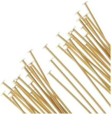 0.5mm thickness 14K Gold Headpin 24 Gauge 5 Pieces