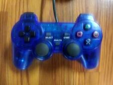 TTX Tech Analog Controller For PlayStation 2 Tested Clear Blue
