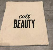 Cult Beauty Canvas Bag Goody Bag Zip Top Cosmetics Toileteries Cream & Black New