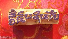 TIBETAN BUDDHIST OM SYMBOL RUBBER STAMP ART HAND-CARVED WOOD STAMP NEPAL