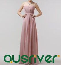 Fashion Long Dresses Party Wedding Chiffon Off-Shoulders Wrinkles Bridemaids