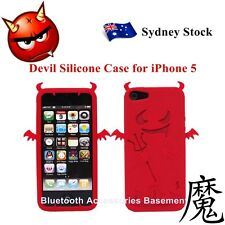 Devil Silicone Case Cover for Apple iPhone 5 (Red)