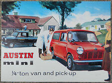 Austin Mini 1/4 ton van & pick-up fold out brochure 1965?