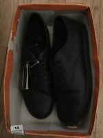 Safe T Step Women's Size 10 Black Lace Up Kandice Ox No Slip Work Shoes NIB