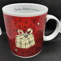 Starbucks Coffee Mug Holiday Christmas 2000 Barista Sneaky Shaking of Presents