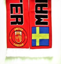 Manchester United Scarf - Man Utd Sweden Supporters - Svenska Football Scarves