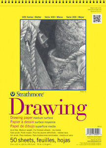 Strathmore 300 Series Drawing Pad, 9 x 12 Inches, 70 lb, 50 Sheets