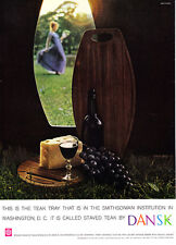 1959 Jens H. Quistgaard Design DANSK Siamese Teak Tray photo vintage print ad
