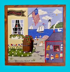 Sandi Wickersham Resnick Primitive Art on Tile 4th of July 1776 Celebration 1985