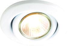 Knightsbridge IP20 230V 50W Max. GU10 White Recessed Tilt Downlight x1