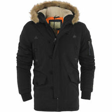 Button Hip Length Polyester Parkas for Men