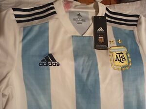 2018 World Cup Adidas Argentina Soccer Home Jersey 15-16y 176 XL made in vietnam