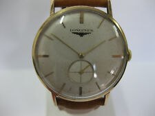 Gents 9ct Gold Longines Vintage Watch Mechanical Manual Wind Cal 19.4 #755