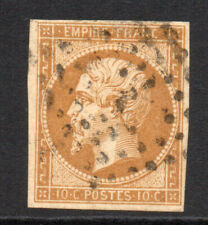 France 10 Cent Stamp c1853-61 Used (3898)