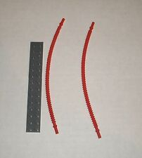 Red Flexible Ribbed Hose (19 Studs Long)  (2x) 6055410 NEW LEGO Brick 14925