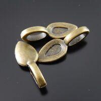 100pcs Alloy Vintage Bronze Glue On Bails Handmade Pendant Jewelry Craft Finding