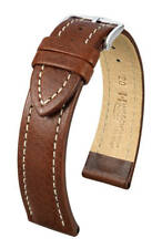 Hirsch Buffalo 18 mm brown watch strap, size M