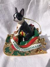 Danbury Mint Boston Terrier Christmas Ornament 2006 FREE SHIPPING