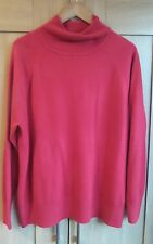 Red jumper, Polo Neck, Size 22, TU. Excellent condition