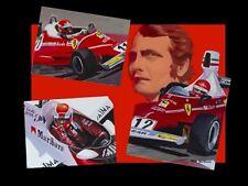 Canvas Niki Lauda 3 times World Champion by Toon Nagtegaal (LE) black