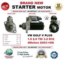 Per VW Golf V Plus 1.9 2.0 TDI 3.2 R32 4 Motion 2003-ON Motore di Avviamento 10-Denti