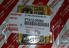 GENUINE OEM TOYOTA FJ CRUISER TRAIL TEAM BADGE SET OF 2 PT413-35080