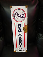 Antique style-porcelain look Esso extra dealer gas pump sign free air no reserve
