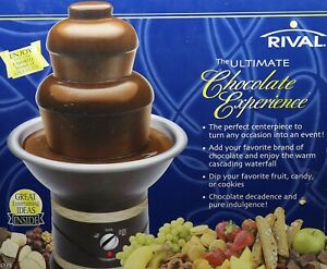 Rival 3 Tier•Chocolate Fountain Model CFF5 Wedding Party Dessert Fondue.