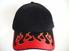 Flame Fire Flaming Visor Black Adjustable Size Hat Cap. AMC New
