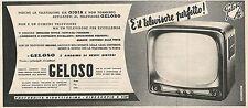 W1861 GELOSO il televisore perfetto - Pubblicità del 1958 - Vintage advertising