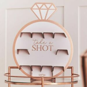 Ginger Ray Hen Party Shot Drinks Wall Rose Gold Ring Design