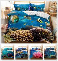 3D Ocean Plant Sea Animal Fish Duvet Cover Set Quilt/Comforter Cover Pillowcase