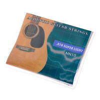 """1 Set Acoustic Guitar Strings 6 strings.010-.047"""" Super Light Yamaha Replacement"""