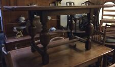 Good Quality Solid Oak Refectory Dining Table On Bulbous Turned Legs