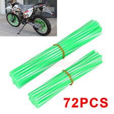 72x Motorcycle Dirt Bike Spoke Skins Covers Wraps Wheel Rim Protector Universal