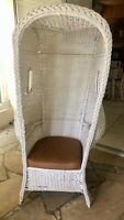 Extremely Rare Antique White Wicker Beach Chair 1897-1905