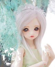1/3 1/4 1/6 6-7 8-9 7-8 BJD Dal Pullip Msd YOSD Wig LUTS BB Dollfie Doll White